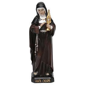 Statues en résine et PVC: Statue en résine Sainte Claire 20 cm