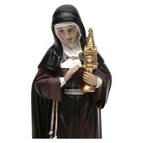 Statue en résine Sainte Claire 20 cm s2