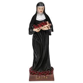 Resin & PVC statues: St. Rita statue in resin 20 cm