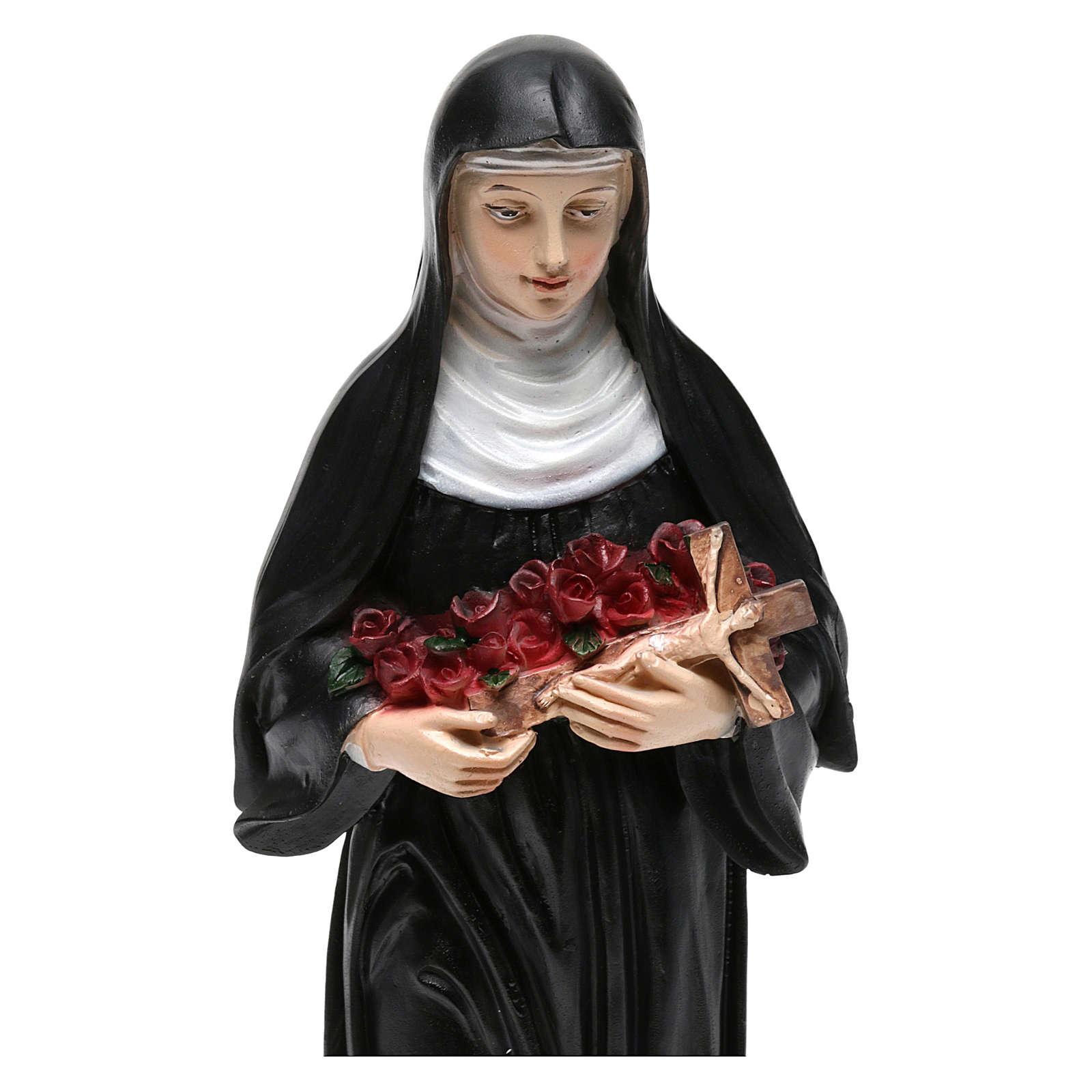 Santa Rita 20 cm imagem em resina 4