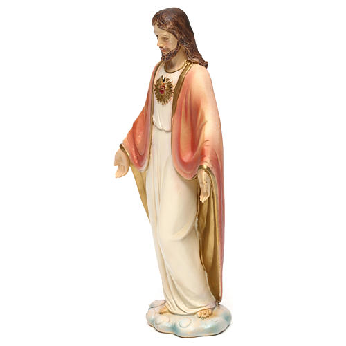 Sacred Heart of Jesus statue in painted resin 20 cm 3