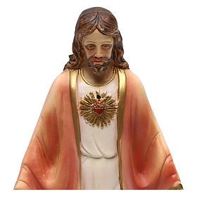 Statue en résine Sacré-Coeur de Jésus 20 cm s2