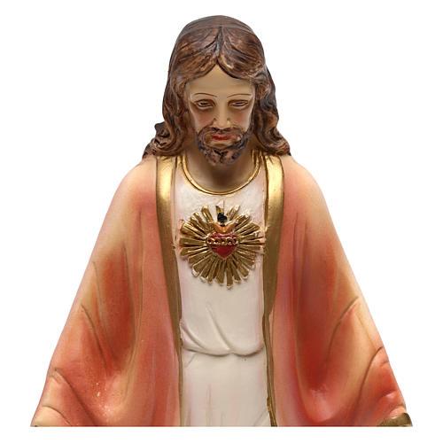 Statue en résine Sacré-Coeur de Jésus 20 cm 2