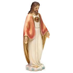 Statua in resina Sacro Cuore di Gesù 20 cm  s4