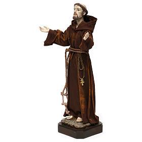 Statue en résine et tissu Saint François 30 cm s3