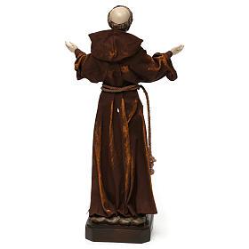 Statue en résine et tissu Saint François 30 cm s5
