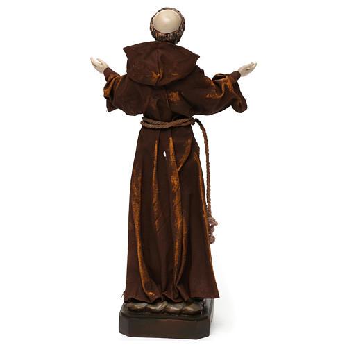 Statue en résine et tissu Saint François 30 cm 5