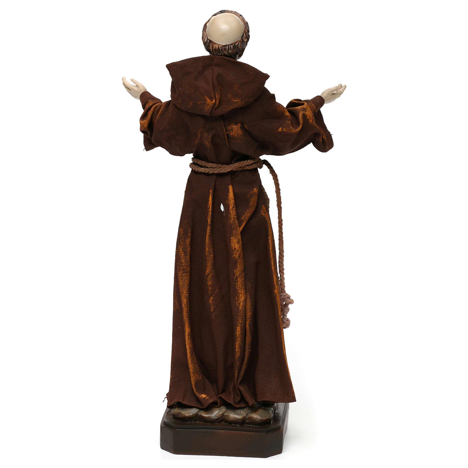 Statua in resina e stoffa San Francesco 30 cm  4
