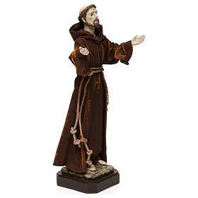 Statua in resina e stoffa San Francesco 30 cm  s4
