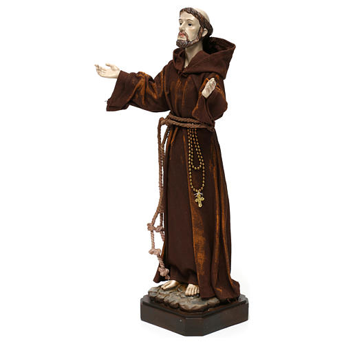 Statua in resina e stoffa San Francesco 30 cm  3