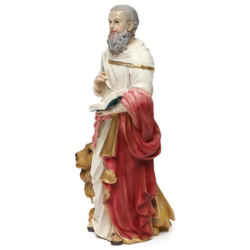 San Marco Evangelista 30 cm statua in resina 3