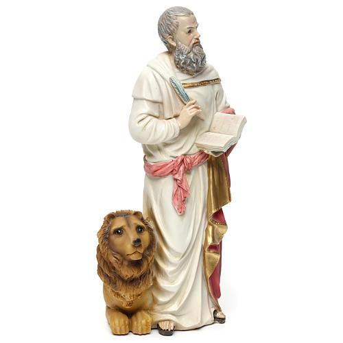 San Marco Evangelista 30 cm statua in resina 4