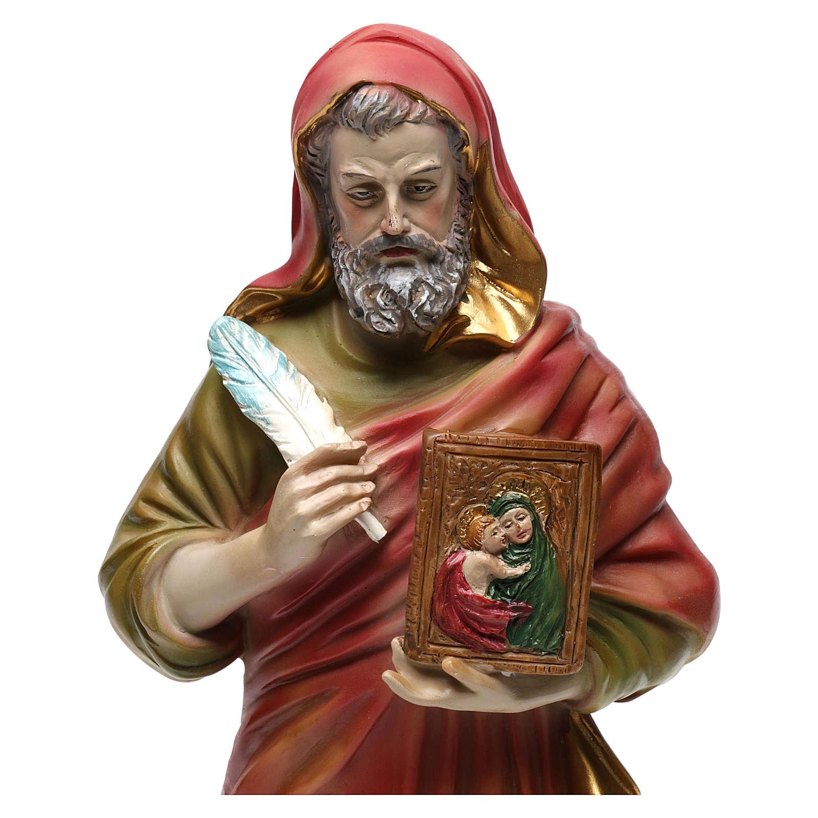 San Luca Evangelista 30 cm statua in resina 4