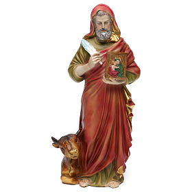 San Luca Evangelista 30 cm statua in resina s1