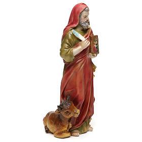 San Luca Evangelista 30 cm statua in resina s4