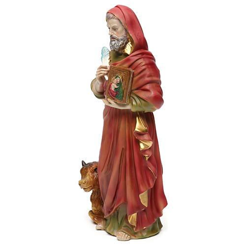 San Luca Evangelista 30 cm statua in resina 3