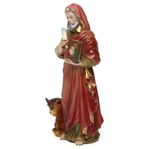 St. Luke the Evangelist statue in resin 20 cm 3