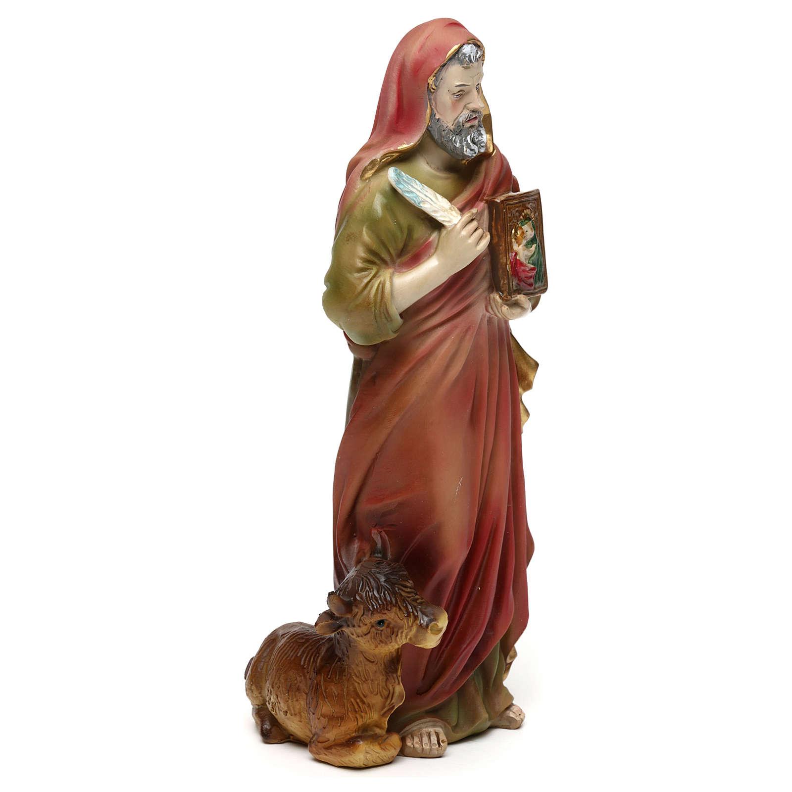 Statue en résine 20 cm Saint Luc Évangéliste 4