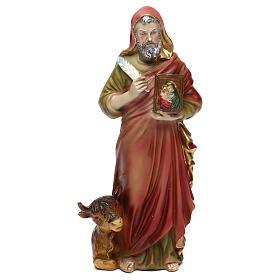 Statue en résine 20 cm Saint Luc Évangéliste s1
