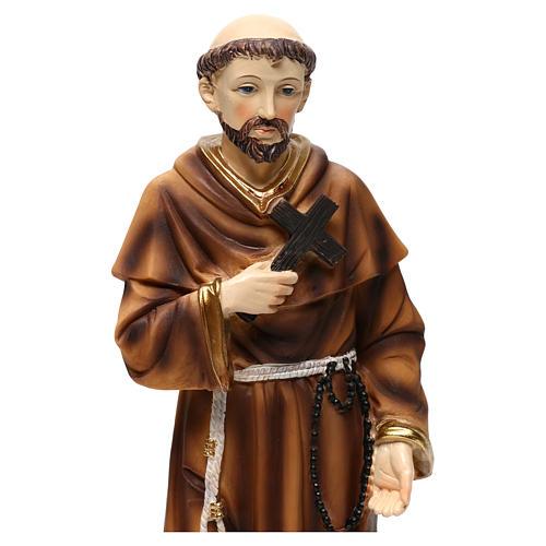 San Francesco con lupo 30 cm statua in resina 2