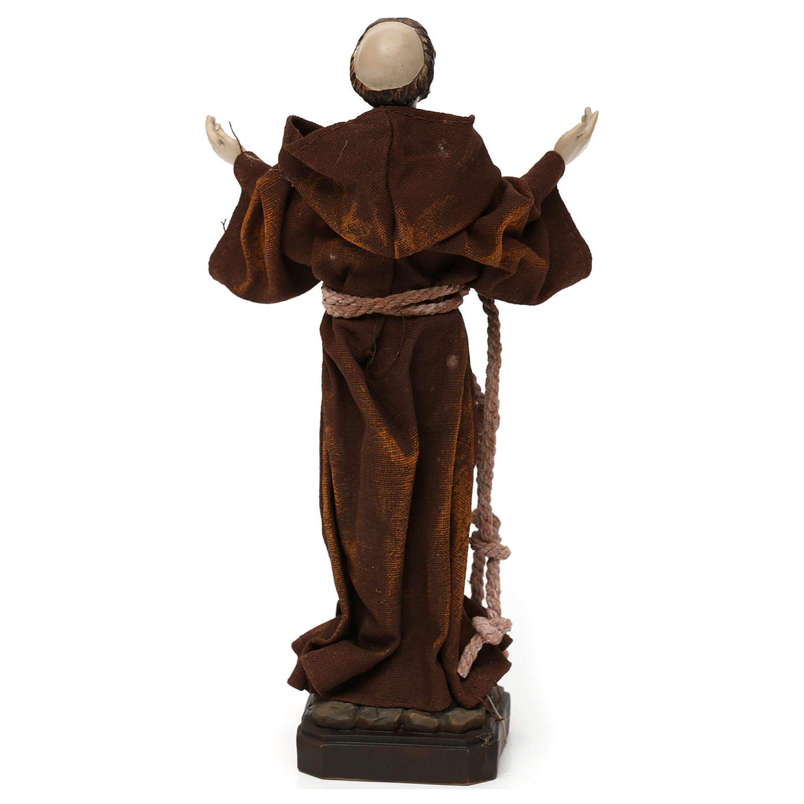 St. Francis statue in resin and fabric 20 cm 4