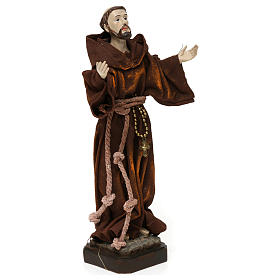 St. Francis statue in resin and fabric 20 cm s4