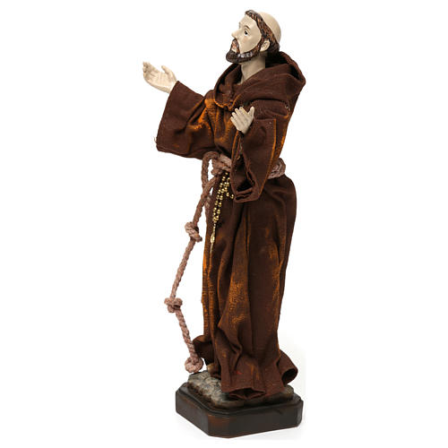 St. Francis statue in resin and fabric 20 cm 3