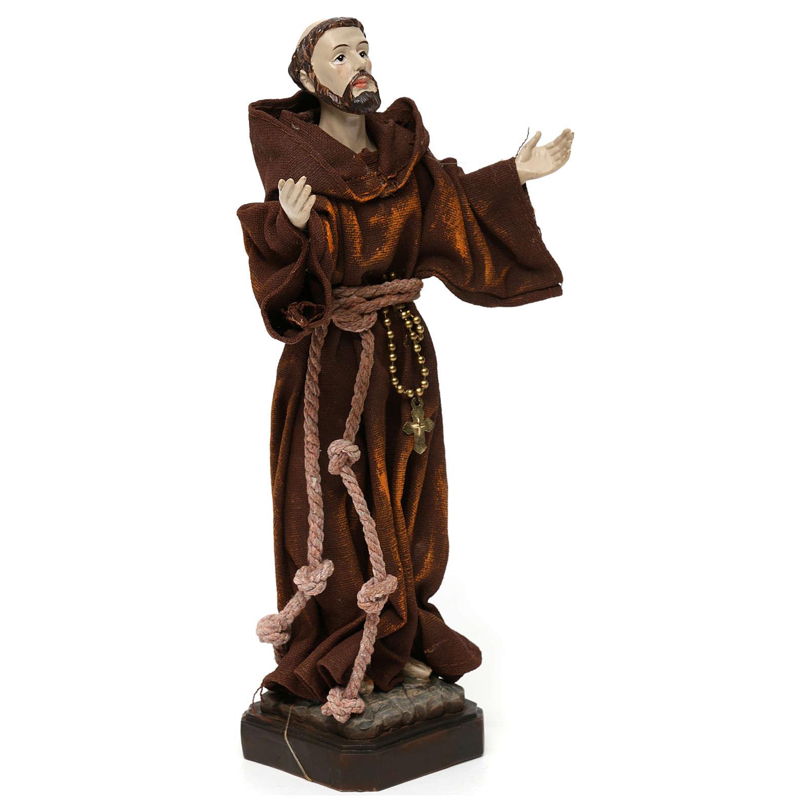 Saint François 20 cm résine et tissu 4