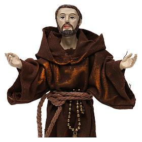 Saint François 20 cm résine et tissu s2