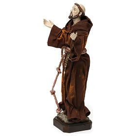 Saint François 20 cm résine et tissu s3
