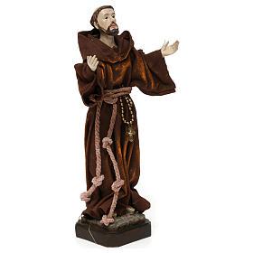 Saint François 20 cm résine et tissu s4