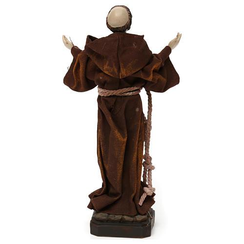 Saint François 20 cm résine et tissu 5