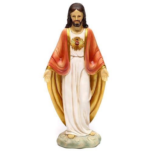 Sacred Heart of Jesus statue in resin 30 cm 1