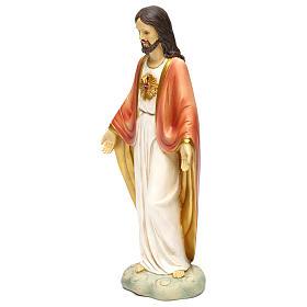 Sacré-Coeur de Jésus résine h 30 cm s3