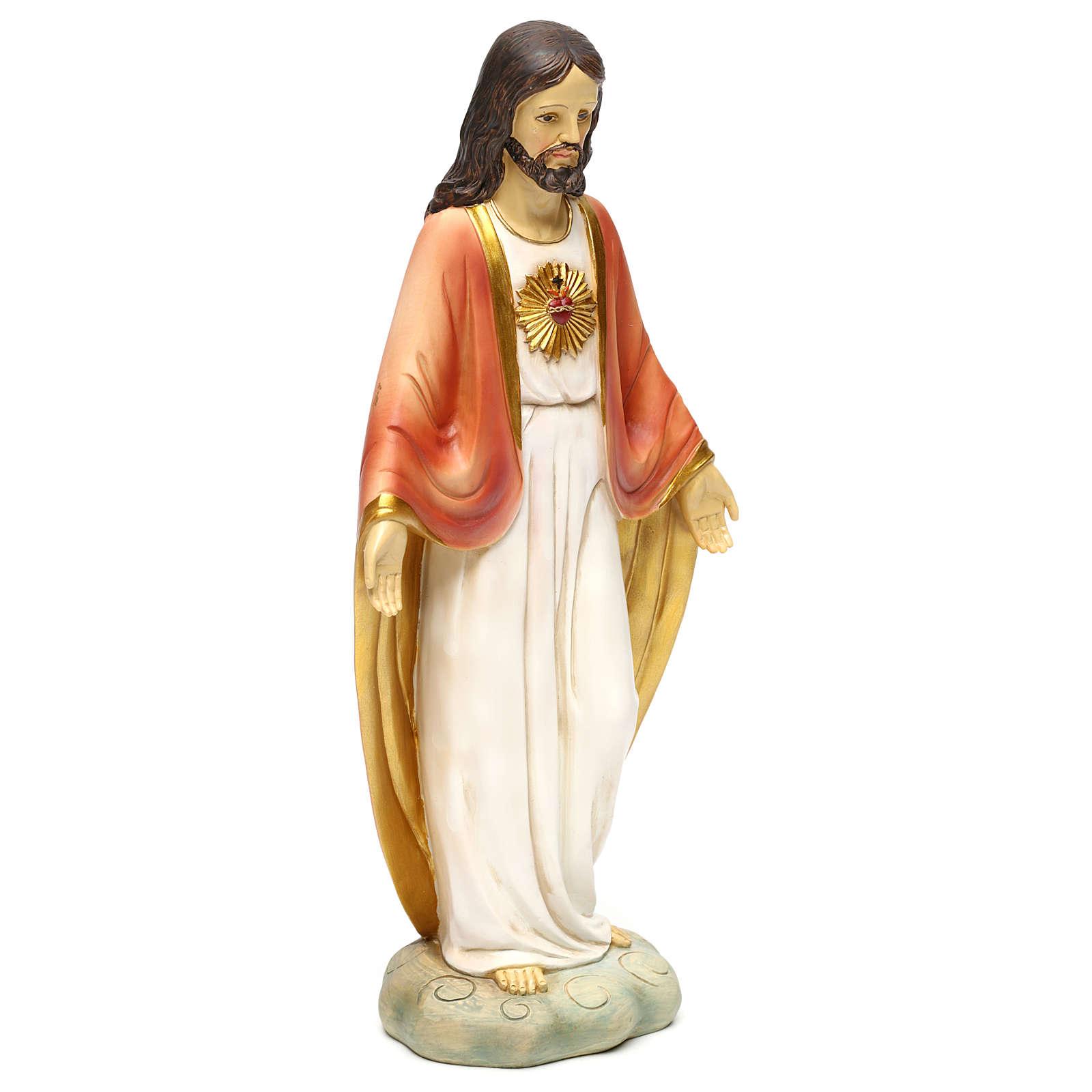 Sagrado Coração de Jesus resina h 30 cm 4