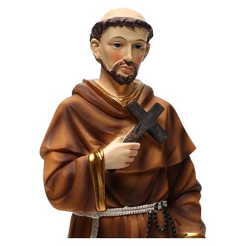 Statua in resina San Francesco con lupo 40 cm  2