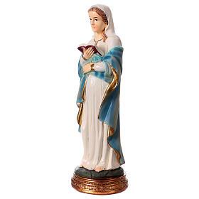 Statua Maria incinta 20 cm in resina s2