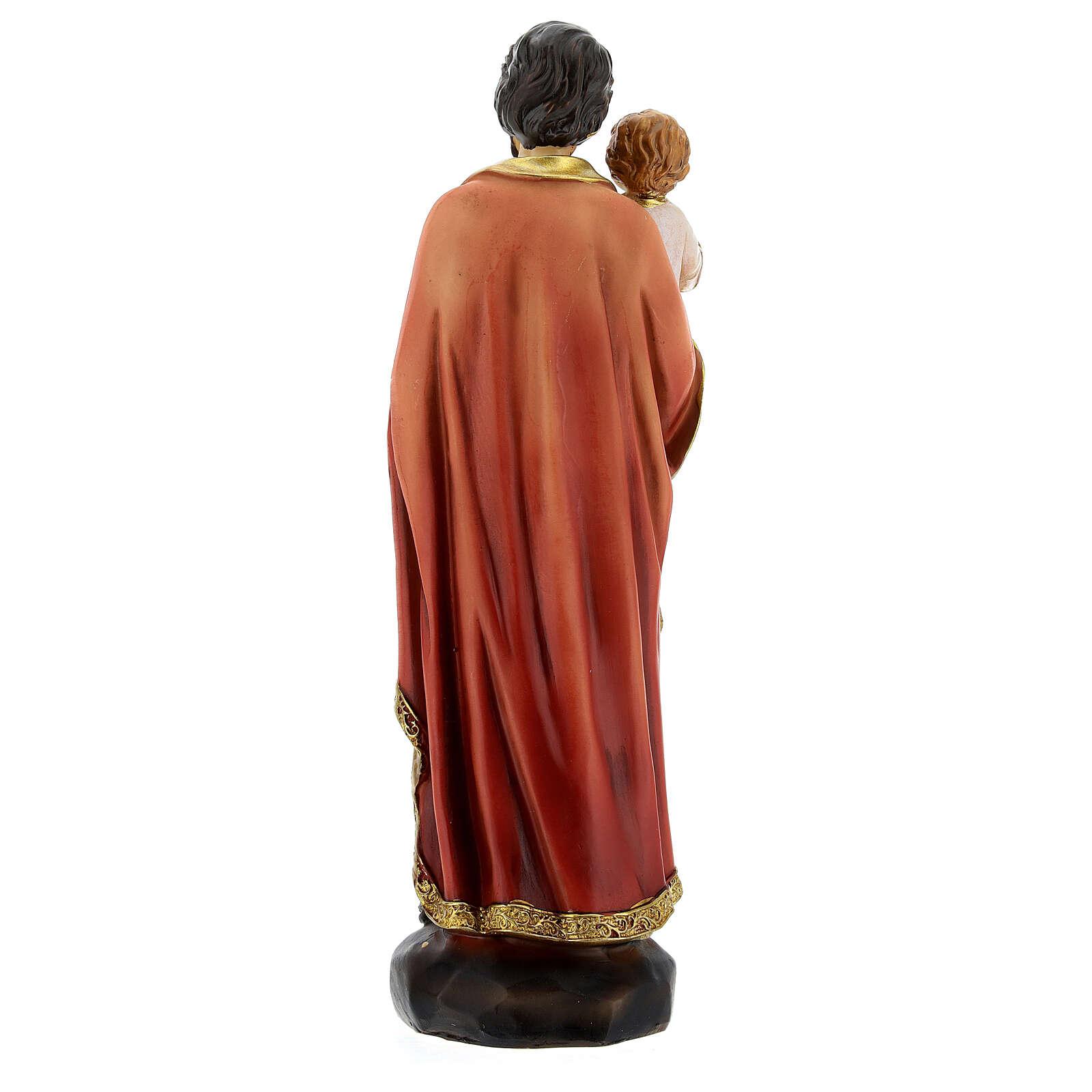 Heiliger Josef mit Kind 20cm aus Harz 4