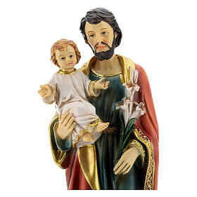 Heiliger Josef mit Kind 20cm aus Harz s2