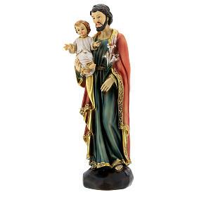 Heiliger Josef mit Kind 20cm aus Harz s3