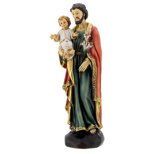 Heiliger Josef mit Kind 20cm aus Harz 3