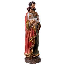 Estatua de resina San José y Niño 20 cm s3