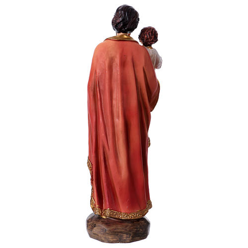 Estatua de resina San José y Niño 20 cm 4