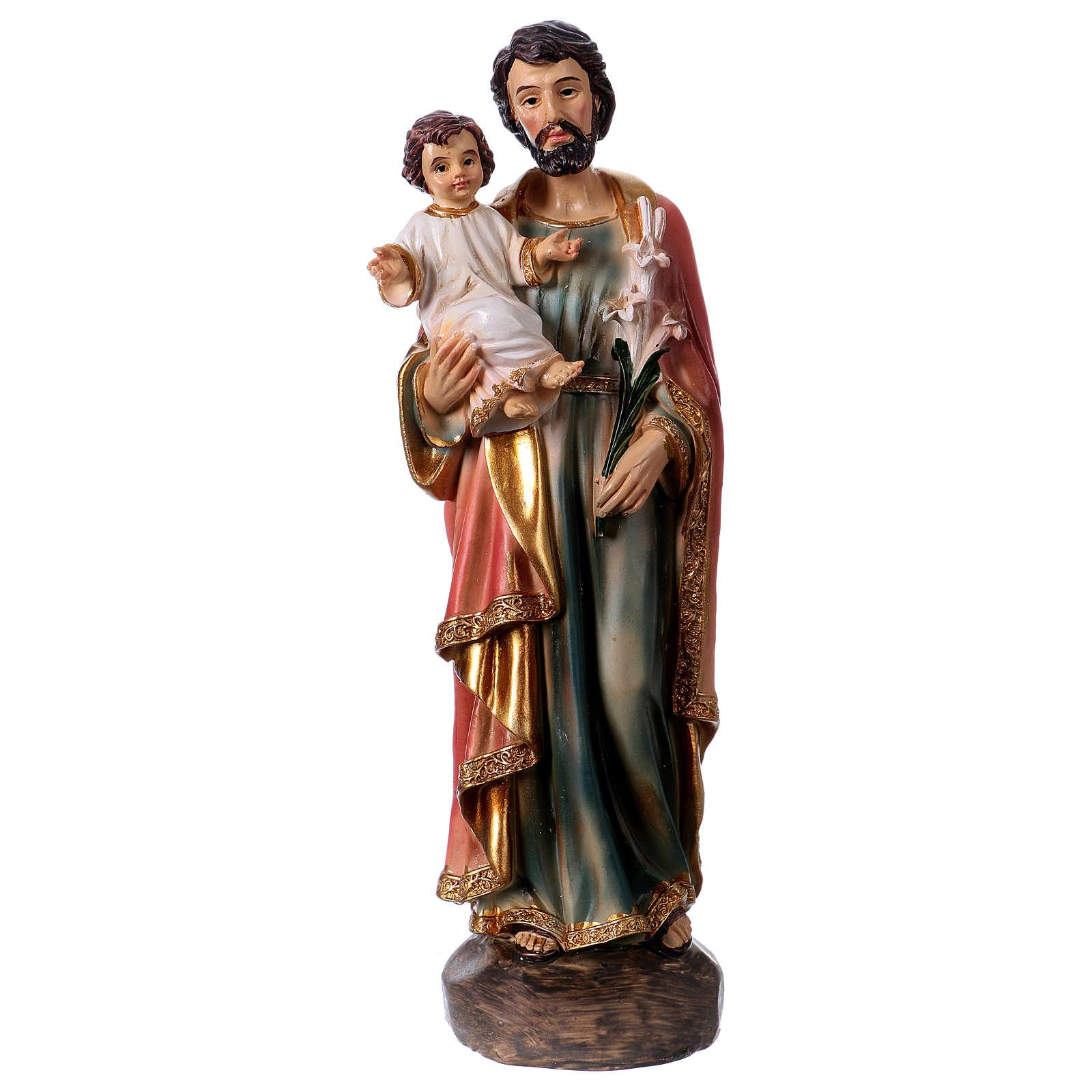 Figura z żywicy Święty Józef i Dzieciątko 20 cm 4