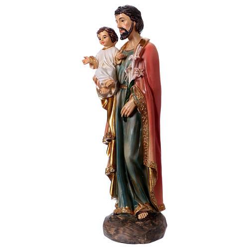 Figura z żywicy Święty Józef i Dzieciątko 20 cm 2