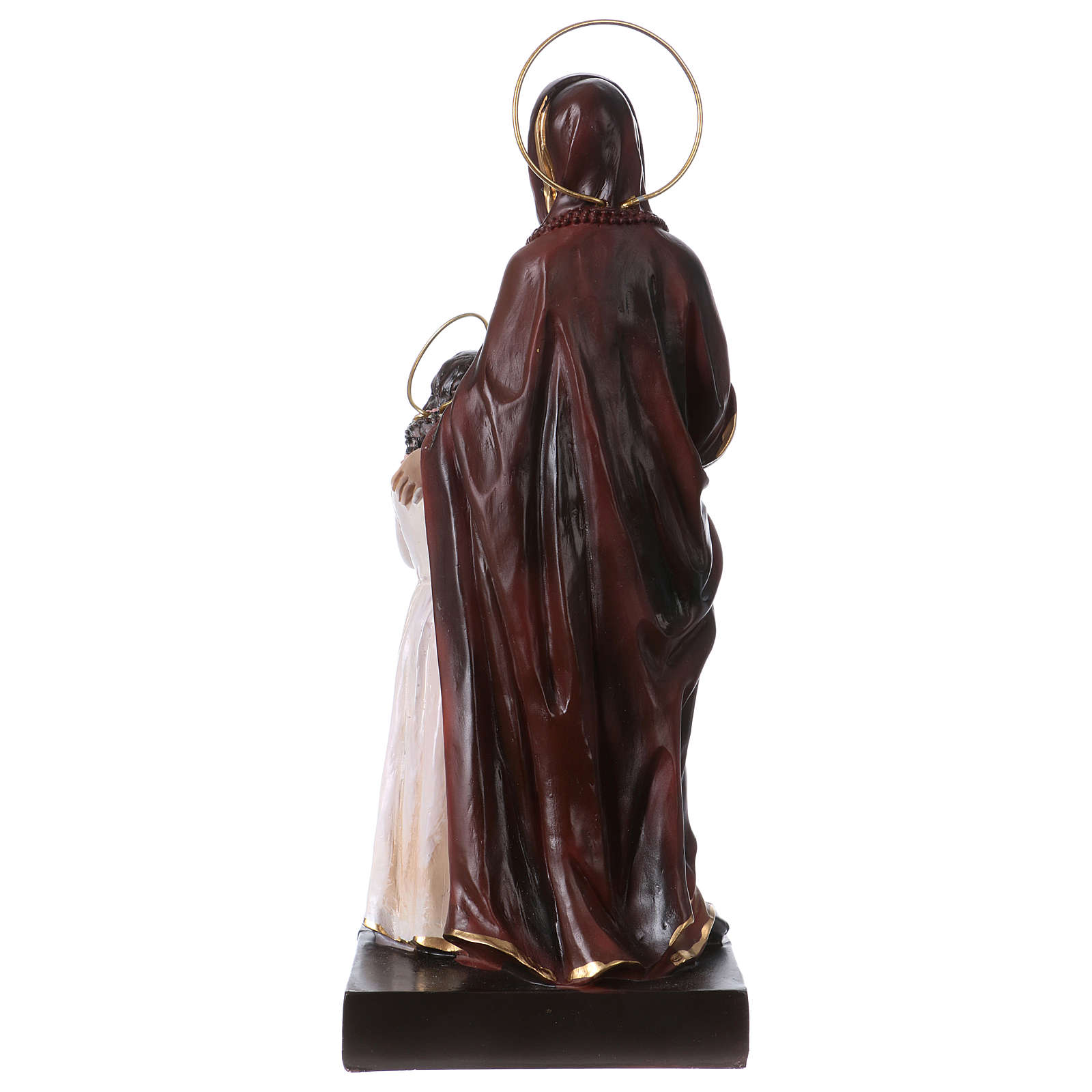 St. Anne with Mary statue in resin 20 cm 4