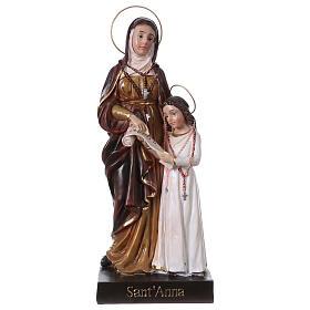 Sainte Anne et Marie 20 cm statue en résine s1