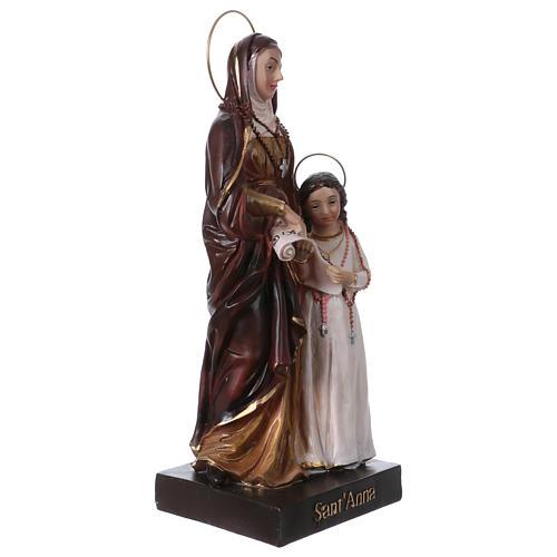 Sainte Anne et Marie 20 cm statue en résine 3