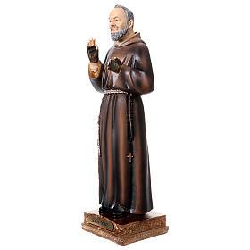 Padre Pio statue in resin 22 cm s2