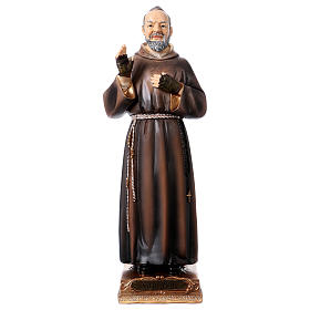 Imágenes de Resina y PVC: Padre Pío 22 cm estatua de resina